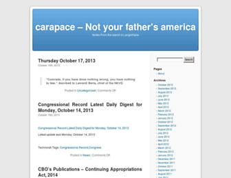 Main page screenshot of carapace.weblogs.us