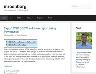 mroenborg.com screenshot