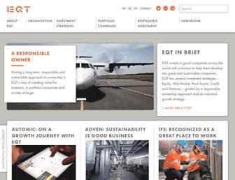 Main page screenshot of eqt.se