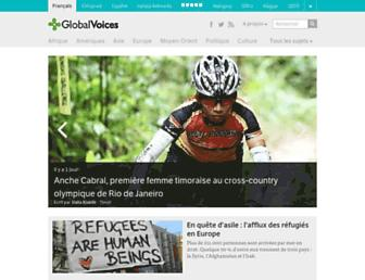 Main page screenshot of fr.globalvoicesonline.org