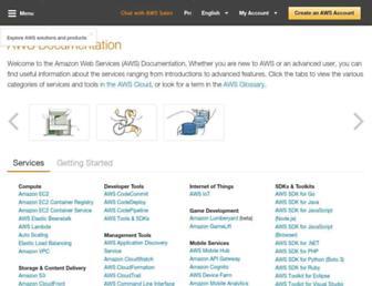 docs.aws.amazon.com screenshot
