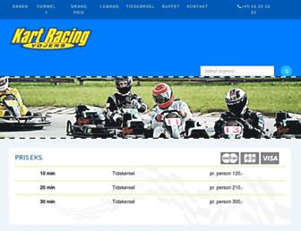 Main page screenshot of vojens-gokart.dk