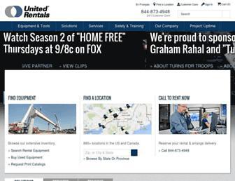 unitedrentals.com screenshot