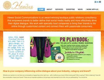 hewarcommunications.com screenshot
