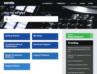 support.serato.com screenshot