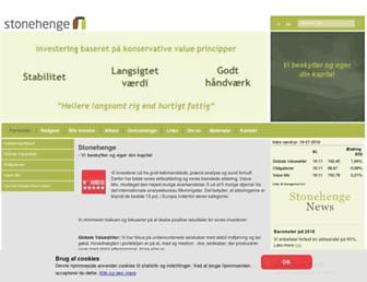 Main page screenshot of stonehenge.dk