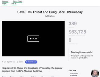 Thumbshot of Filmthreat.com