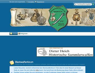 Main page screenshot of blankwaffen-forum.de