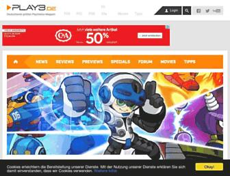 Main page screenshot of play3.de