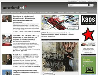 Main page screenshot of old.kaosenlared.net