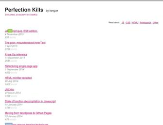 Thumbshot of Perfectionkills.com