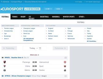 livescore.eurosport.com screenshot
