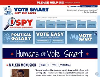 Main page screenshot of votesmart.org