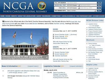 ncleg.net screenshot