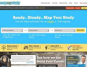 mapmystudy.com screenshot