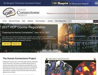 Main page screenshot of humanconnectome.org