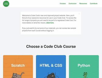 codeclubprojects.org screenshot