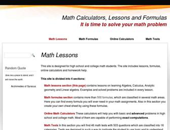 Thumbshot of Mathportal.org