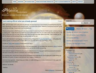 Main page screenshot of wow.wolfdragon.net