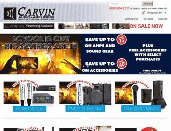 carvinaudio.com screenshot