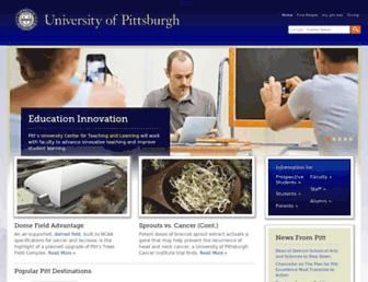 Main page screenshot of pitt.edu