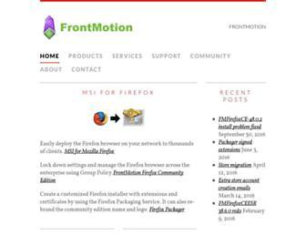 frontmotion.com screenshot