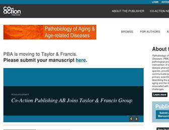 Main page screenshot of pathobiologyofaging.net