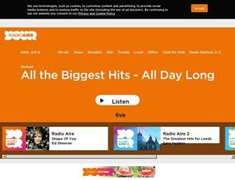 Main page screenshot of radioaire.co.uk