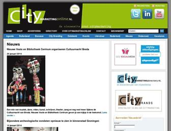 Main page screenshot of citymarketingonline.nl