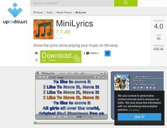 minilyrics.en.uptodown.com screenshot