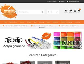 store.evansartsupplies.ie screenshot