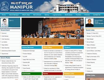 manipur.gov.in screenshot