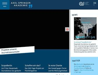 Main page screenshot of axel-springer-akademie.de
