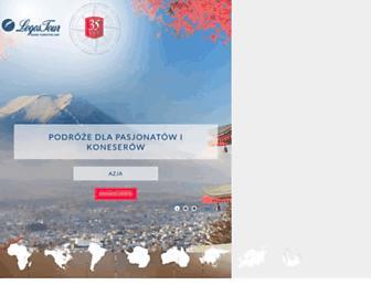 Main page screenshot of logostour.pl