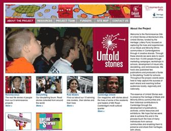 untoldstories.org.uk screenshot