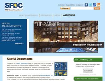 Main page screenshot of sfdc.org