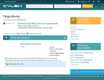 targu-mures.cylex.ro screenshot