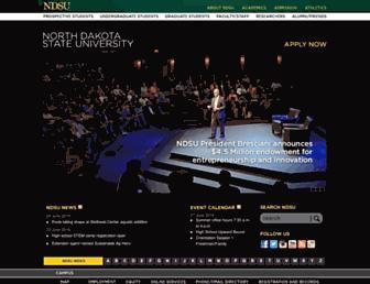 Main page screenshot of ndsu.edu