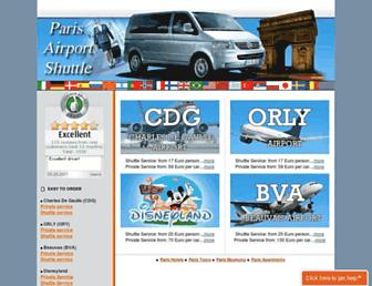 paris-airport-shuttle.com screenshot