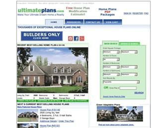ultimateplans.com screenshot
