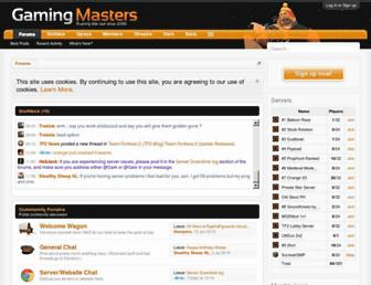 Main page screenshot of gamingmasters.org