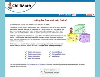 chilimath.com screenshot