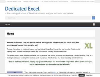dedicatedexcel.com screenshot