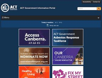 Thumbshot of Act.gov.au