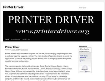 printerdriver.org screenshot
