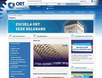 Main page screenshot of campus.belgrano.ort.edu.ar