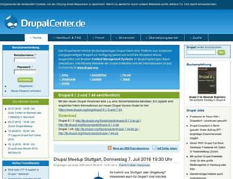 Main page screenshot of drupalcenter.de