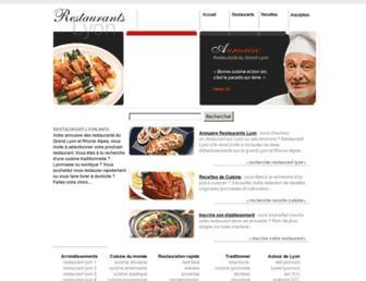 Main page screenshot of restaurant-lyon.info