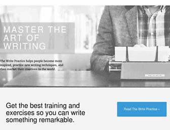 thewritepractice.com screenshot