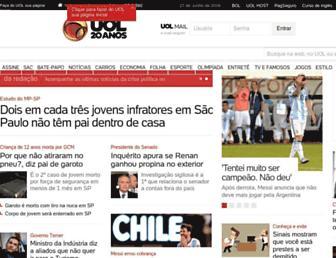 Main page screenshot of uol.com.br